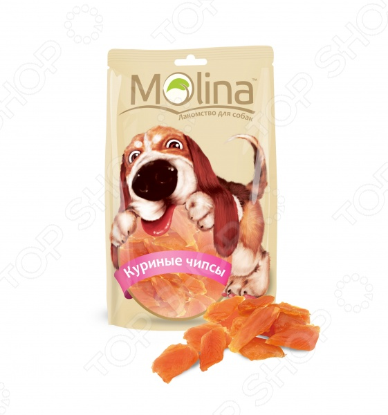 Лакомство для собак Molina 0696 «Куриные чипсы»
