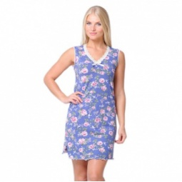 фото Сорочка Santi AW15-UAT-LSS-196. Рисунок: синие розы. Размер одежды: 46-48