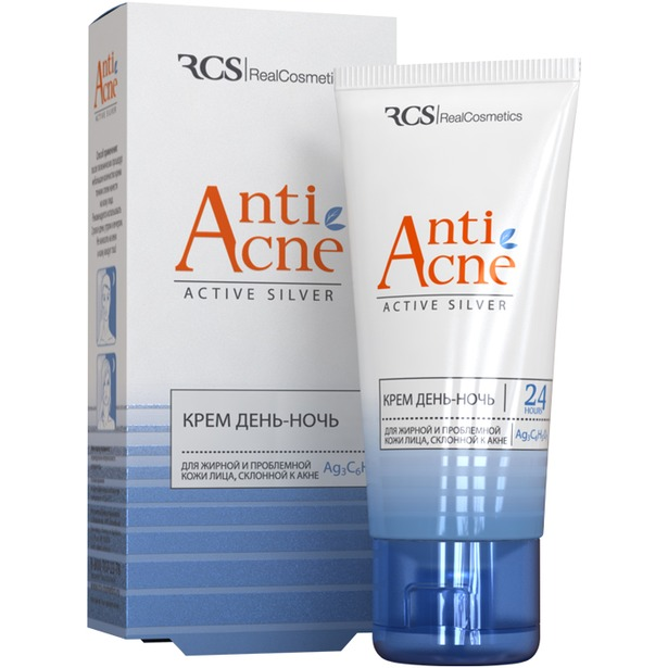 фото Крем для лица RCS Anti Acne Active Silver «День-ночь»