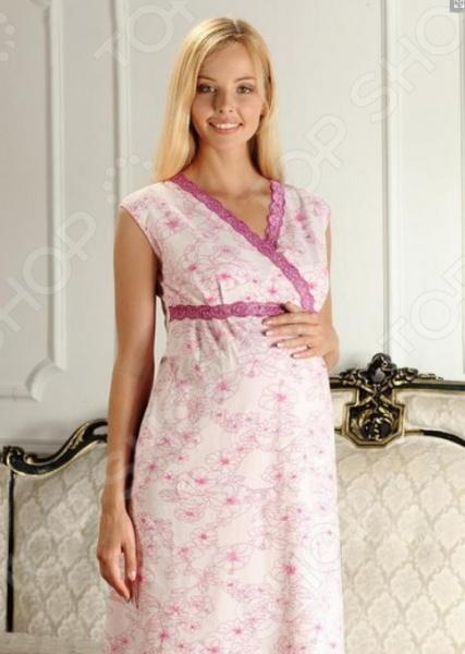 Сорочка для беременных Nuova Vita 208.2. Цвет: розовый пояс дородовой nuova vita 20060 цвет чёрный