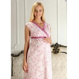 Купить Сорочка для беременных Nuova Vita 208.2. Цвет: розовый