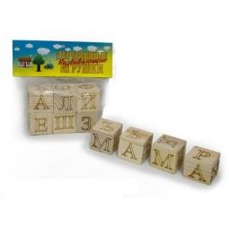 фото Кубики обучающие Русские деревянные игрушки «Азбука» Д152б