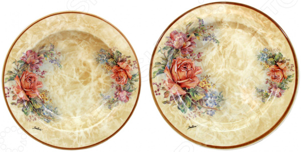 Набор тарелок обеденных LCS «Элианто»Обеденные тарелки<br>Изящество и универсальность Набор тарелок обеденных LCS Элианто идеально подходит для сервировки как праздничного застолья, так и ужина в тихом и уютном домашнем кругу. Представленный комплект также можно использовать в качестве сервировочной посуды в местах общественного питания. Вы можете подать в тарелках суп, салаты, соленья или закуску.  Тарелки изготовлены из высококачественной керамики и дополнены нежным цветочным узором. Этот материал издавна вошел в обиход человека, ведь его главными свойствами являются натуральность и экологичность. Классический стиль и универсальная цветовая гамма изделий придадут вашему ужину еще большей гармонии, эмоциональной наполненности и добавят нотку романтичности. Оцените преимущества набора тарелок от бренда LCS:  Состоит из суповой и обеденной тарелок, с диаметром 23,5 и 25 см соответственно.  Изготовлен из качественных материалов и украшен изящным рисунком.  Имеет интересный дизайн, поэтому не останется незамеченным.  Универсален в применении.  Превосходно впишется в интерьер кухни и столовой.  Подойдет в качестве подарка для ваших любимых, родных и близких. LCS это молодая итальянская компания, которая специализируется на производстве керамической посуды и изделий для украшения интерьера. Данный бренд успешно сочетает высокотехнологичное производство и ручную работу профессиональных дизайнеров и художников, за счет чего конечная продукция получается невероятно качественной и красивой.<br>