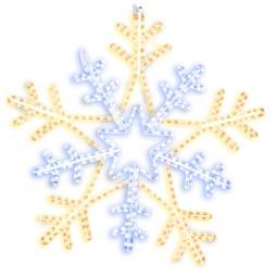 фото Подвес декоративный Star Trading Snowflake. Диаметр: 100 см. Цвет: желтый, белый