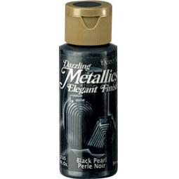 фото Краска акриловая перламутровая DecoArt Dazzling Metallics. Цвет: черный