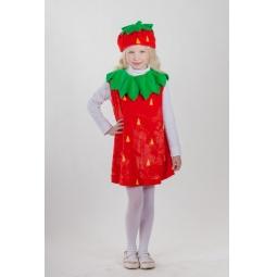 фото Костюм карнавальный для девочки Карнавалия «Клубничка»