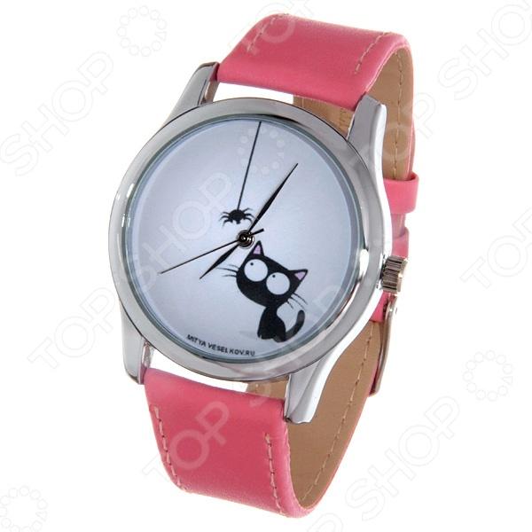 Часы наручные Mitya Veselkov «Кошка и паучок» Color часы наручные mitya veselkov райский сад color