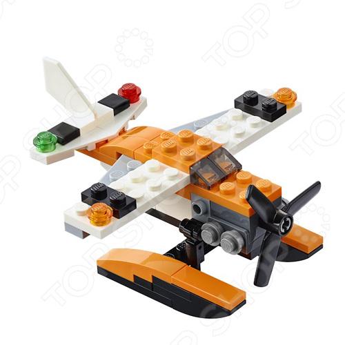 Конструктор LEGO ГидропланКонструкторы LEGO<br>Конструктор Lego Гидроплан станет отличным подарком для юного конструктора. Комплект содержит большое количество деталей, что позволит добиться высокой детализации модели. Кроме того, набор отлично подходит для сюжетно-ролевых игр и позволяет ребенку выдумывать разнообразные истории, используя всю силу воображения. Все детали выполнены из высококачественных полимерных материалов, поэтому полностью безопасны.<br>
