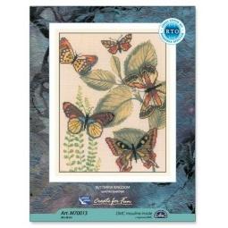 Купить Набор для вышивания крестиком RTO «Царство бабочек» М70013