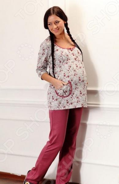 Брюки домашние для беременных Nuova Vita 511.1. Цвет: светло-розовый aibo подходит для беременных женщин беременных женщин леггинсы стрейч брюки проп живот беременных брюки m402 светло серый l