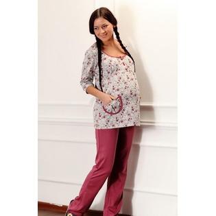 Купить Брюки домашние для беременных Nuova Vita 511.1. Цвет: светло-розовый