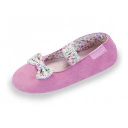 фото Тапочки-балетки детские Isotoner 99305. Цвет: розовый. Размер: 28