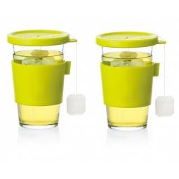 фото Набор стаканов для напитков с крышками Glasslock GL-1364