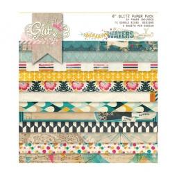 фото Набор бумаги Glitz Design Uncharted waters. Количество листов: 36. Размер: 15х15 см