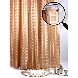 Штора для ванной с крючками White Fox WBCH10-104 iq spa штора для ванной комнаты 180х200 100% пвх
