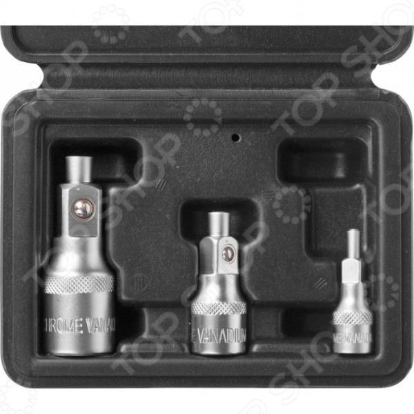 Набор адаптеров магнитных для торцевых головок Зубр «Мастер» 27712-H3 набор адаптеров для тестирования автокондиционера универсальный в кейсе jtc 1402