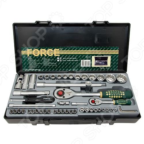 Набор с торцевыми головками и битами Force F-4541 унив набор торцевых головок jonnesway 1 4dr 4 13 мм и 1 2dr 8 32 мм комбинированных ключей 6 32 мм и отверток 128 предметов