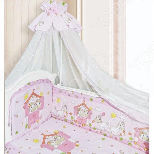 фото Комплект в кроватку Золотой Гусь «Лошадка», Постельные принадлежности для новорожденных