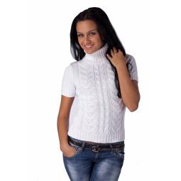 фото Свитер вязаный Mondigo 9004. Цвет: белый. Размер одежды: 46