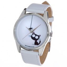 Купить Часы наручные Mitya Veselkov «Кошка и паучок» MV.White