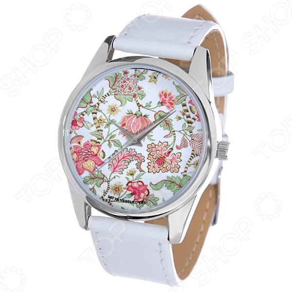 Часы наручные Mitya Veselkov «Розовые лотосы» MV.White