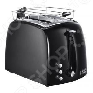 Тостер Russell Hobbs Textures Plus 22601-56Тостеры<br>Тостер Russell Hobbs Textures Plus 22601-56 прибор для прожарки хлеба. Тосты являются уникальным продуктом, ведь микроволновки или хлебопечи редко имеют такую функцию, а отдельный тостер всегда порадует поджаренным хлебом с мягкой хрустящей корочкой. Тостер предназначен для одновременного приготовления двух тостов. На передней панели модель имеет механический переключатель и 3 кнопки, с помощью которых можно выбрать нужный режим для тостов. С помощью термостата можно регулировать желаемую степень готовности. Кроме функций остановки приготовления и разогрева, тостер оснащен функцией размораживания, с помощью который вы можете готовить свежайшие тосты из замороженного хлеба.<br>