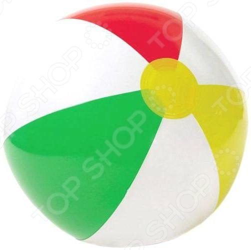 Мяч надувной Intex «Радужный» 59010Надувные мячи<br>Мяч надувной Intex Радужный 59010 предназначен для таких маленьких, но уже таких активных малышей. Игры с мячом не только забавны, но и полезны. Они помогут развить координацию движений и укрепить целый ряд мышц. У ребенка активно тренируется дыхательная система и сердечная деятельность. С надувным мячом можно играть дома, на улице и даже в бассейне. При необходимости он легко сдувается, занимая минимум места при транспортировке или хранении.<br>