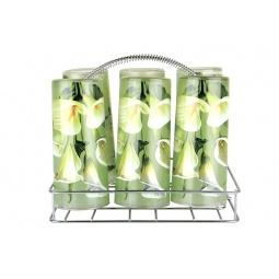 Купить Набор стаканов с подставкой Коралл «Калла»