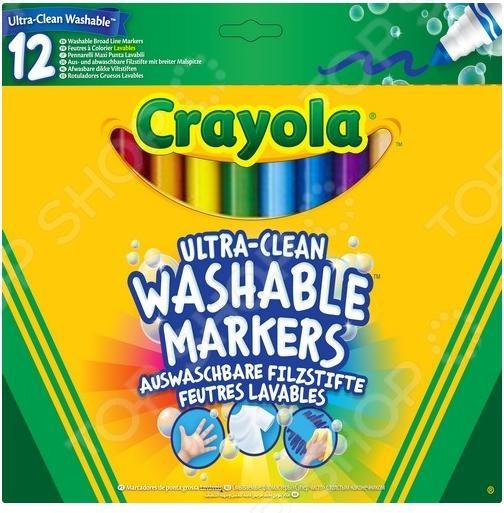 Набор фломастеров смываемых Crayola 58-8329 «Супер чисто» фломастеры crayola 12 цветов 58 8329
