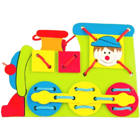 Купить Игра развивающая для малыша Mapacha «Шнуровка. Паровоз»