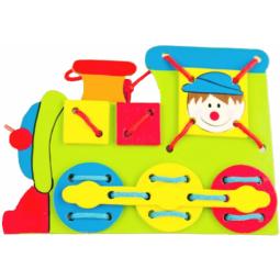 фото Игра развивающая для малыша Mapacha «Шнуровка. Паровоз»