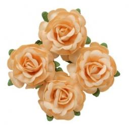 фото Набор украшений ScrapBerry's «Чайная роза». Диаметр: 4 см. Цвет: бежевый