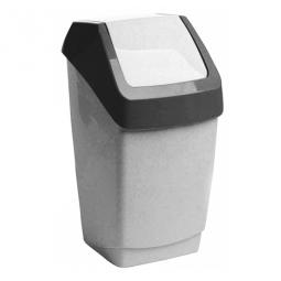 фото Контейнер для мусора IDEA «Хапс». Цвет: белый. Объем: 15 л