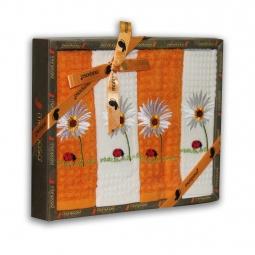 Купить Комплект из 4-х кухонных полотенец Mariposa Romashka