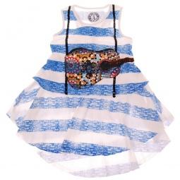 фото Платье детское в полоску с аппликацией Mini Shatsu Acoustic Guitar Suspender