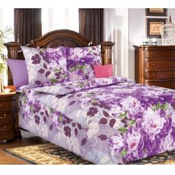фото Комплект постельного белья Белиссимо «Селена». 1,5-спальный. Цвет: сиреневый