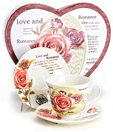 Чайная пара Loraine LR-21509Чайные и кофейные пары<br>Сервировка чайного столика не менее важна, чем сервировка общего праздничного стола, ведь качественная и красивая посуда позволит не только в полной мере насладиться любимым напитком, но и получить эстетическое удовольствие от самого чаепития, а также подчеркнуть стиль и манеры хозяина дома. Яркий и красивый чайный набор Loraine LR-21509 рассчитан на 2 персоны, поэтому он будет уместно смотреться, как на романтических встречах за чашечкой чая или кофе, так и на дружеских посиделках. Аккуратные чашечки с изящными ручками и блюдца выполнены из высококачественной керамики. Поэтому несмотря на свою внешнюю хрупкость, они отличаются прочностью и практичностью. Яркий и красочный дизайн с цветочным рисунком является дополнительным преимуществом набора, которое оценят даже самые взыскательные ценители стиля и красоты. Чайный набор Loraine LR-21509 станет идеальным и незаменимым подарком, который по достоинству оценят ваши друзья и близкие! Набор упакован в подарочную коробку в виде сердце.<br>
