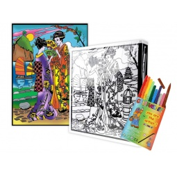 Купить Папка-раскраска Color Velvet «Япония»