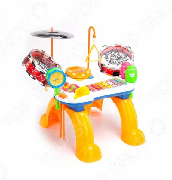 Игрушка музыкальная Bradex «Мелодия»Игрушечные музыкальные инструменты<br>Игрушка музыкальная Bradex Мелодия - отличная развлекательная игрушка для вашего ребенка. С ней хорошее настроение будет обеспечено. Музыкальная станция включает в себя сразу 8 музыкальных инструментов: барабан-погремушку, ксилофон, китайский барабан, тамбурин, треугольник, тарелки, трубу, маракасы. Основными преимуществами музыкальной игрушки Bradex Мелодия являются:  безопасные экологически чистые материалы;  развивает музыкальный слух и чувство ритма у ребенка;  одновременно могут играть сразу несколько детей;  уникальное сочетание музыкальных инструментов. Размеры:40x26x20 см.<br>