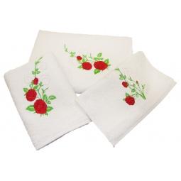 фото Комплект полотенец подарочный TAC Roses. Цвет: белый