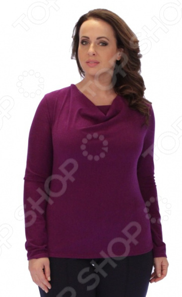 Блуза Элеганс Фрида. Цвет: фиолетовыйБлузы. Рубашки<br>Блуза Элеганс Фрида это легкая и нежная блуза, которая поможет вам создавать невероятные образы, всегда оставаясь женственной и утонченной. Благодаря отличному дизайну она скроет недостатки фигуры и подчеркнет достоинства. Блуза прекрасно смотрится с брюками и юбками, а насыщенный цвет привлекает взгляд. В этой блузе вы будете чувствовать себя блистательно как на работе, так и на вечерней прогулке по городу. Универсальная длина делает блузу одеждой на все случаи жизни, а удобные рукава скрывают полноту рук. Дизайн фасона поможет акцентировать внимание на груди, при этом ретушируя недостатки фигуры. Швы обработаны эластичными, текстурированными нитями, благодаря чему вы не будете испытывать неудобств, ведь они не натирают кожу и не растягиваются. Блуза изготовлена из полиэстера 95 и эластана 5 , благодаря чему материал не скатывается и не линяет после стирки. Полиэстер очень быстро высыхает и не мнется. Даже после длительных стирок и использования эта блуза будет выглядеть идеально.<br>