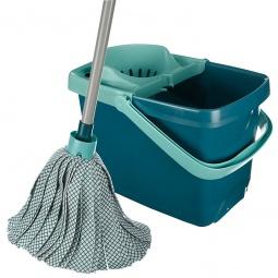 Купить Ведро для мытья полов с насадкой для отжима и швабра-моп Leifheit CLASSIC MOP COMBI 56791