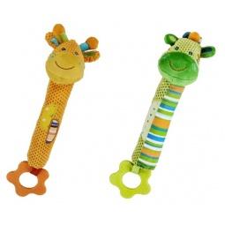 фото Мягкая игрушка развивающая Жирафики с прорезывателем «Веселый зоопарк». В ассортименте