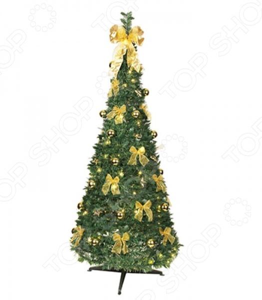Ель искусственная на подставке Star Trading 603-91 Pull Up TreeЕлки<br>Для многих из нас Новый Год является самым любимым и долгожданным праздником в году. Ведь это не просто подведение итогов, не просто конец старого и начало нового года это реальная возможность хоть ненадолго окунуться в волшебную зимнюю сказку. Не зря говорят, что чудеса случаются там, где в них верят и чем больше верят, тем чаще они случаются. Яркие елочные шары, долгожданные подарки, встречи с родными, свечи и разноцветные огни гирлянд что может быть чудесней Не секрет, что главным символом Нового Года является елка. Почти в каждой семье есть традиция ежегодно собираться и вместе наряжать украшать ее игрушками, бантами и разноцветным лентами. Выбор елок на сегодняшний день очень велик. Кто-то не мыслит праздника без аромата хвои и покупает живые деревья, а кто-то отдает предпочтение искусственным. Ель искусственная на подставке Star Trading 603-91 Pull Up Tree это прекрасная альтернатива живой ели. Благодаря внешнему сходству и отличной проработке деталей, такие деревья год за годом набирают все большую популярность среди потребителей.  Это выгодно вам не придется покупать елку каждый год.  Это практично искусственная елка прослужит вам много лет.  Это не вредит экологии искусственные елки, а отличие от живых не требуют вырубки лесов.  Это безопасно иголки не будут осыпаться, так что никто не поранится особенно это актуально для семей, где есть маленькие дети.  Это красиво выглядит даже лучше, чем натуральная ель, которая зачастую лишена большого количества веточек и иголочек. Ель Star Trading станет главным праздничным украшением. Такая красавица не сможет остаться незамеченной. Великолепная ель высотой 185 см оснащена 144 led лампами, которые придают ей неповторимое загадочное свечение. Она создаст праздничное настроение в любом интерьере. Дополните сказочную красавицу рождественскими композициями, венками, свечами, гирляндами и конечно не забудьте о праздничном декорировании фасада дома. Пус
