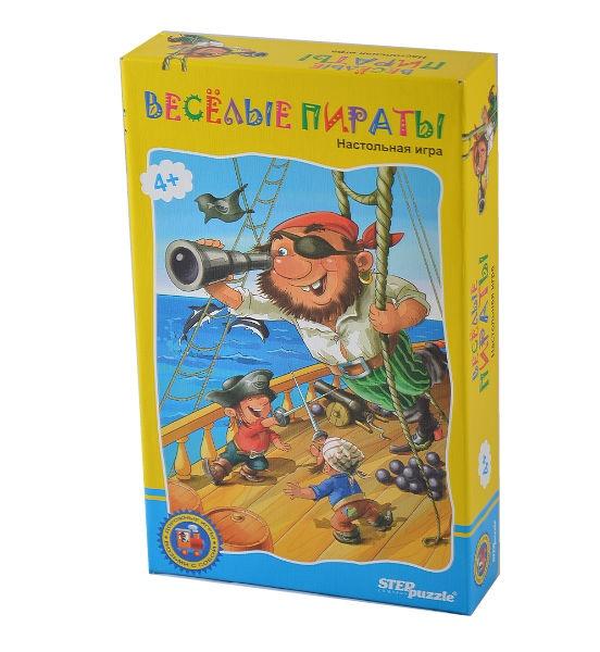 Игра дорожная Step Puzzle Веселые пиратыКарточные игры<br>Сделайте свое путешествие увлекательнее возьмите с собой в дорогу настольную игру Веселые пираты ! Игра способствует развитию внимания, координации, реакции. Будет интересна не только детям, но их родителям.<br>