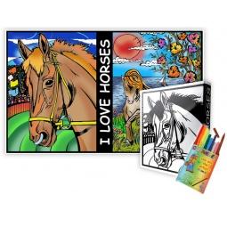 Купить Папка-раскраска Color Velvet «Лошади»