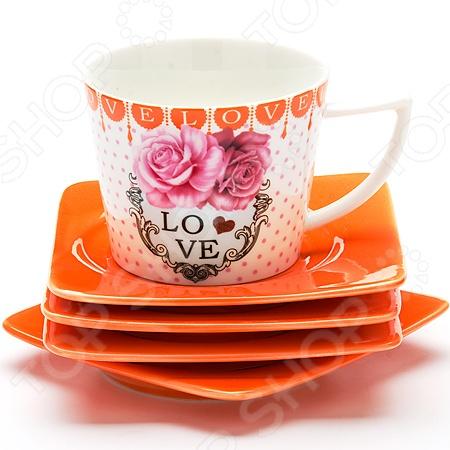 Чайный набор Loraine LR-24698Чайные и кофейные наборы<br>Чайный набор Loraine LR-24698 рассчитан на четыре персоны. Он внесет яркий акцент в сервировку стола и станет отличным дополнением к набору ваших кухонных принадлежностей. Посуда выполнена из высококачественной керамики и украшена оригинальным цветочным рисунком. Набор упакован в красивую подарочную коробку. Торговая марка Loraine это синоним первоклассного качества и стильного современного дизайна. Компания занимается производством и продажей кухонных инструментов, аксессуаров, посуды и т.д. Функциональность, практичность и инновационные решения вот основные принципы торгового бренда Loraine.<br>
