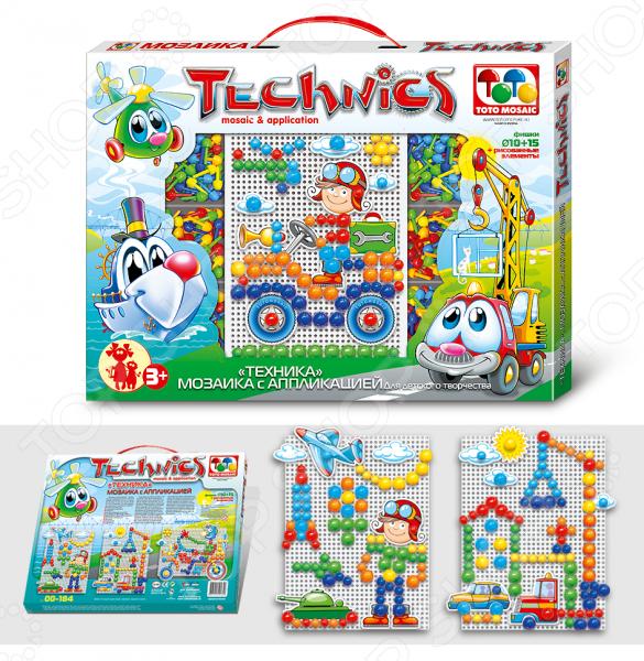 Мозаика с аппликацией Toys Union «Техника»