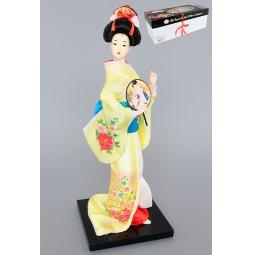 Купить Статуэтка Elan Gallery «Японка в желтом кимоно с веером»