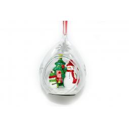 фото Елочное украшение Crystal Deco «Украшение подвеска Снеговики вокруг елки»